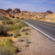 Stock Photo: Twisting desert road