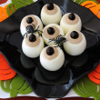Stock Photo: Funny eye eggs on Halloween