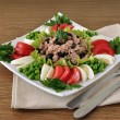 Tuna Salad and vegetables — Stock Photo