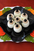 Funny eye eggs on Halloween — Stock Photo