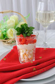 """Salad from eggs in the """"Shota"""" — Stock Photo"""