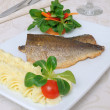 Stock Photo: Baked fillet of sebass