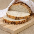 Whole wheat bread with grains - Stock Photo