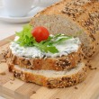 Sandwich with ricotta - Stock Photo
