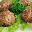 Meatballs with herbs - Stock Photo