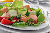 Salmon salad — Stock Photo