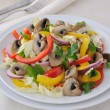 Stock Photo: Vegetable salad with mushrooms