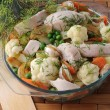 Stock Photo: Roasted vegetables with chicken and dill
