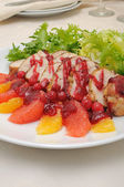 Baked fillet with cranberry sauce — Stock Photo