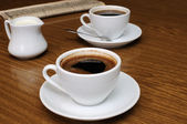 A cup of black coffee — Stock Photo