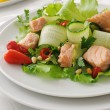 Stock Photo: Salmon salad