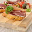 French toast with jamon — Stock Photo