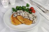 Potato patties with mushrooms (zrazy) — Stock Photo