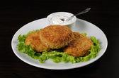 Cotolette di pollo nel pangrattato — Foto Stock