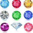 Vector de stock : Colored gems