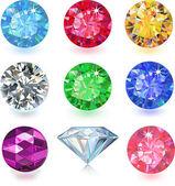 彩色的宝石 — 图库矢量图片