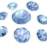 Set of eight diamonds isolated on white background — Stock Photo