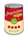 Can of condensed tomato soup Inspiration — Stock Vector