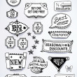 Sales messages set of promotional english text labels — Image vectorielle