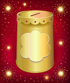 Universal blank holiday moneybox tin can — Vettoriale Stock
