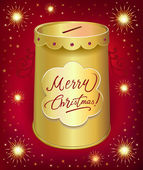 Universal holiday moneybox tin can — Vettoriale Stock