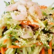 Vegetable salad with shrimp - Stock Photo