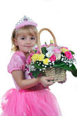 Malá princezna v růžové — Stock fotografie