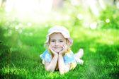 Girl in hat — Foto de Stock