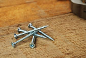 Steel screws — Stockfoto