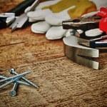 Steel screws — Stock Photo
