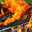 Burning down fire — Stock Photo #13719441