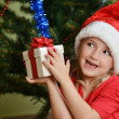 Girl  in santa cap - Foto de Stock  