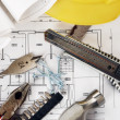Drawings  and tools - Stockfoto