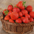 Basket of strawberries - Stock Photo