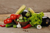 Composition with vegetables — Stock Photo