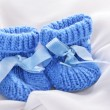 Baby booties — Stock Photo