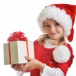 Girl in santa cap — Stock Photo #16020865