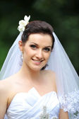 Bride in white dress — Stock Photo