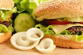 Tasty hamburger — Stock Photo