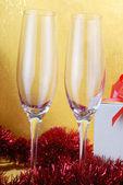Champagner-gläser — Stockfoto