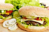 Lezzetli hamburger — Stok fotoğraf