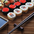 Traditional Japanese sushi - Stock Photo