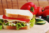 Sandwich with cutlet — Stock Photo