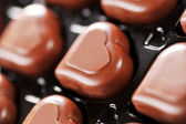 Chocolate in box — Stock Photo