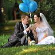 Newly-married couple — Stock Photo #20115949