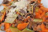 Gemüse und fleisch — Stockfoto