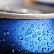 Wet aluminium can — Stock Photo