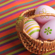 Easter. Painted easter eggs - Stockfoto