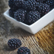 Blackberry in bowl — Stock Photo #21816777