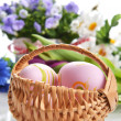 Basket of easter eggs — Stock Photo #21817513